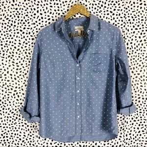 J. Crew Boy Shirt in Dots Button Down Top